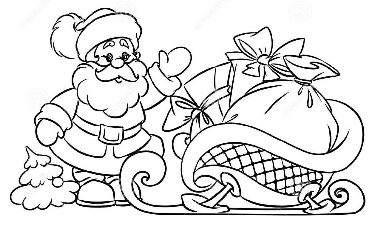 1257x757 How To Draw Santa Claus Christmas Gifts Illustration