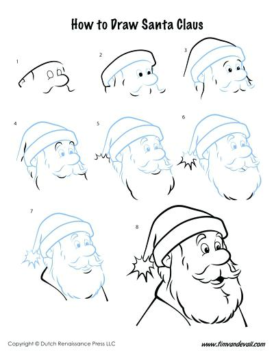 400x518 Santa Claus Drawing How To Draw An Anime Or A Drawing Illustration