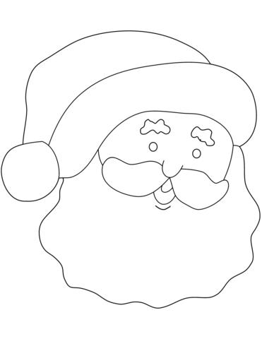 371x480 Santa Claus Simple Portrait Coloring Page Free Printable