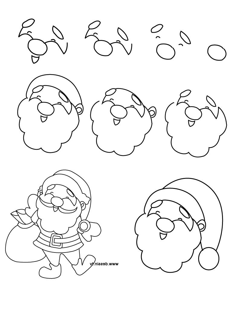 768x1024 Simple Drawing Of Santa Simple Santa Drawing