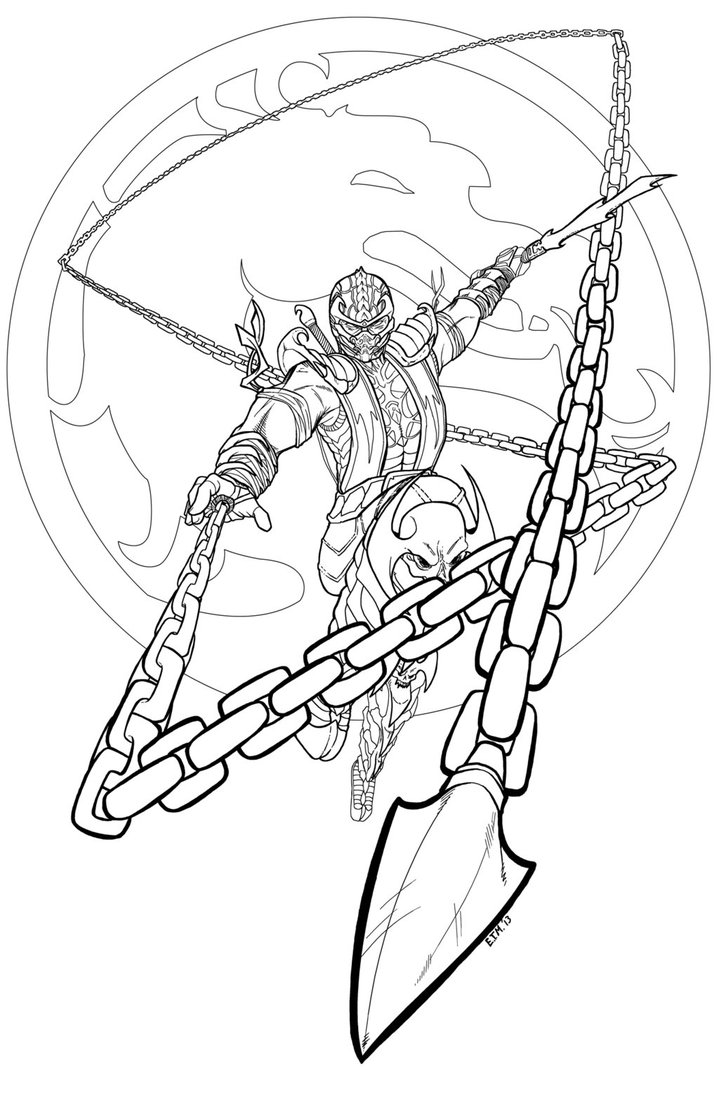719x1111 Scorpio Coloring Pages