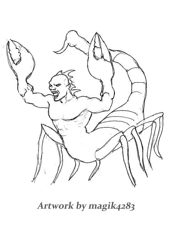 568x733 Scorpion Man