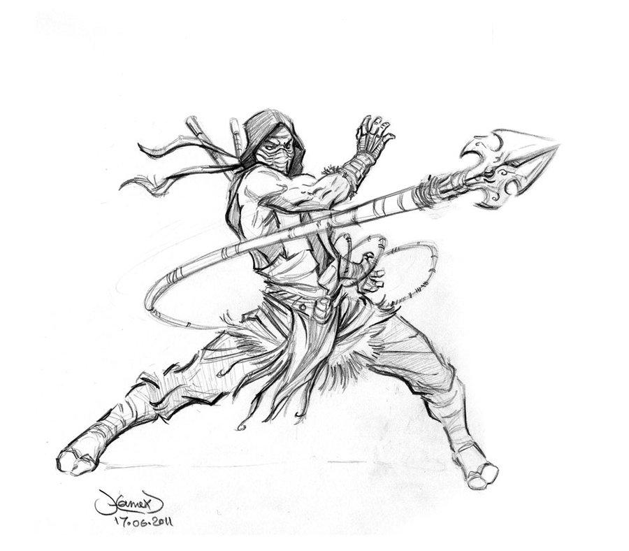 900x788 Scorpion Classic Sketch By Hamex