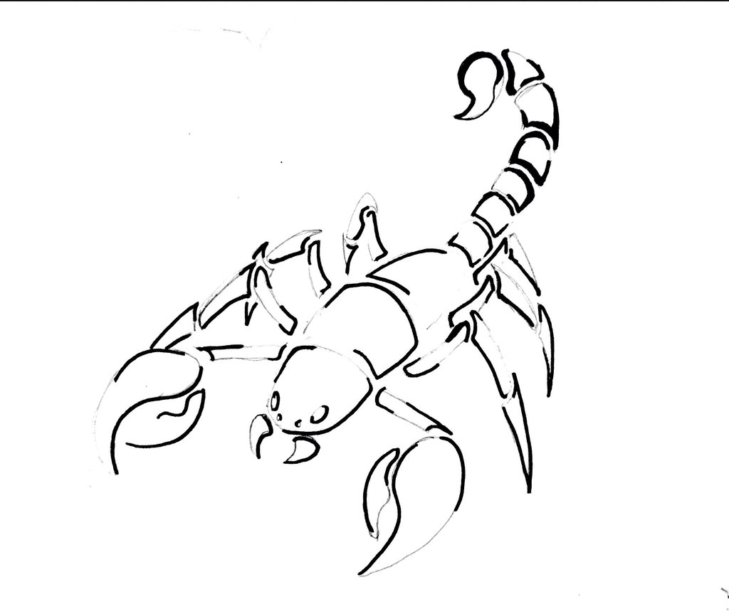 1024x863 Scorpion Tattoo Design By Azizul Adamant58r