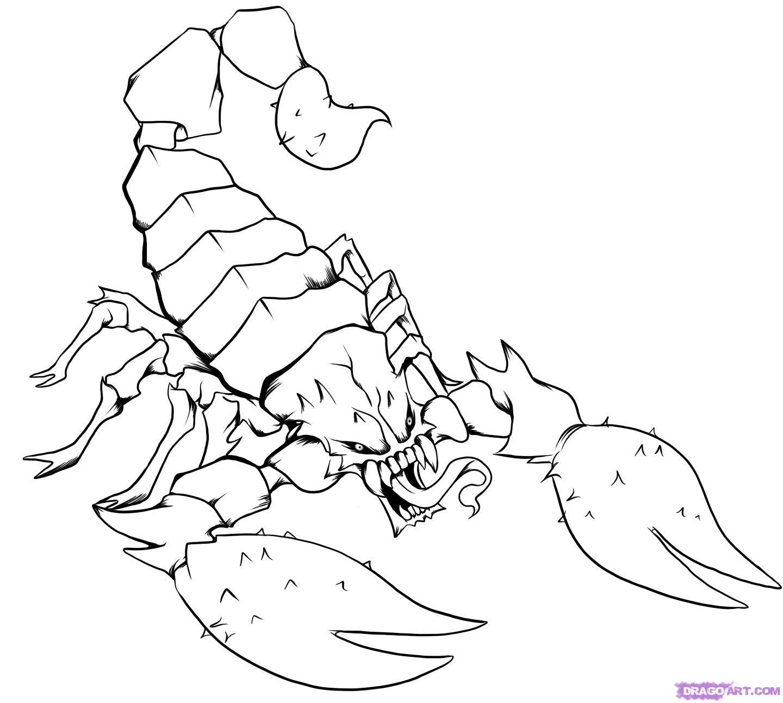 1440x1293 Step 7 Scorpion S Scorpion, Body Art And Tattoo