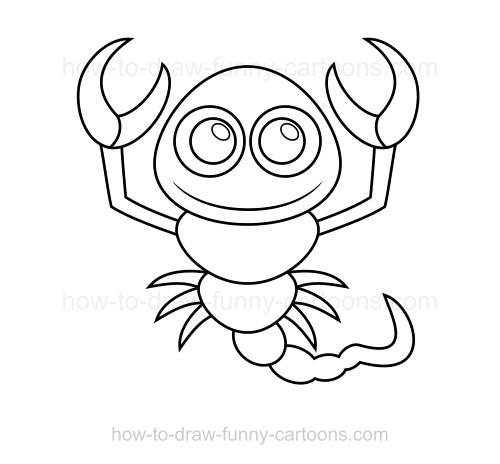 500x464 To Draw A Scorpion