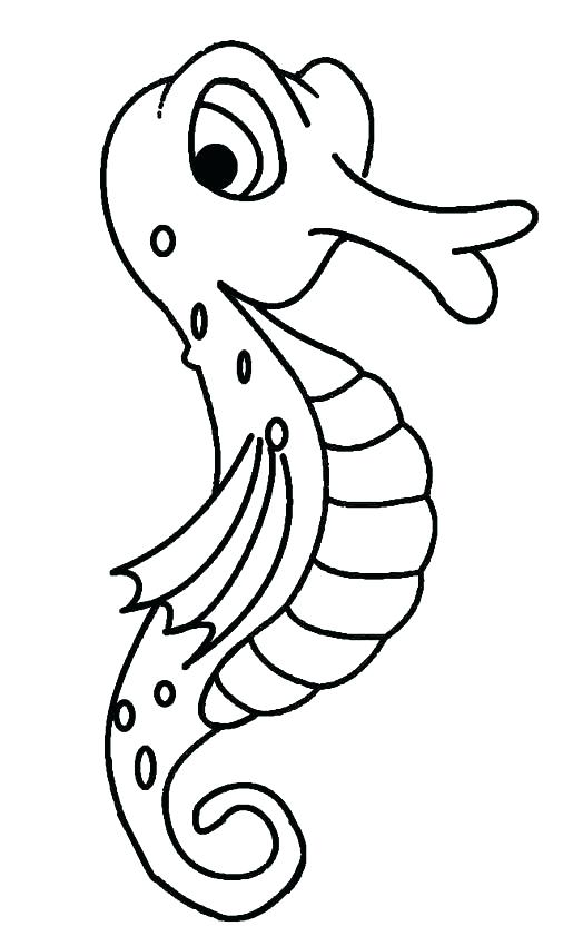 Simple Seahorse Drawing at GetDrawings.com | Free for personal use ...