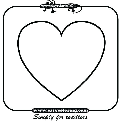 496x496 Heart Shape Coloring Pages Basic Shapes Coloring Pages Basic
