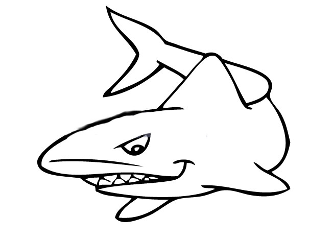 Simple Shark Drawing