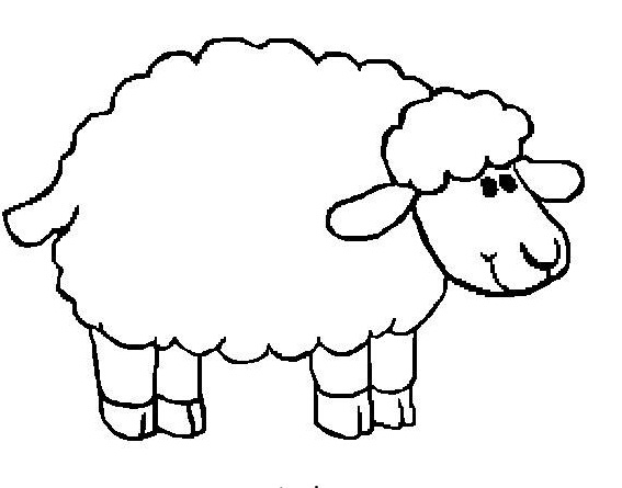 free sheep head coloring pages | Simple Sheep Drawing at GetDrawings.com | Free for ...