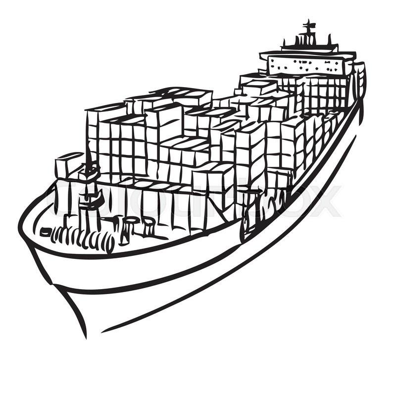 800x800 Cargo Ship Drawing Easy Sunglassesray