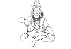 300x210 Lord Shiva Easy Sketches Angry Lord Shiva Face Sketch