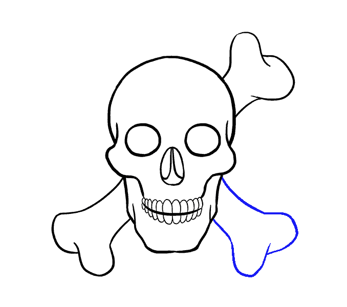 678x600 How To Draw A Skull Step By Step Tutorial Easy Drawing Guides