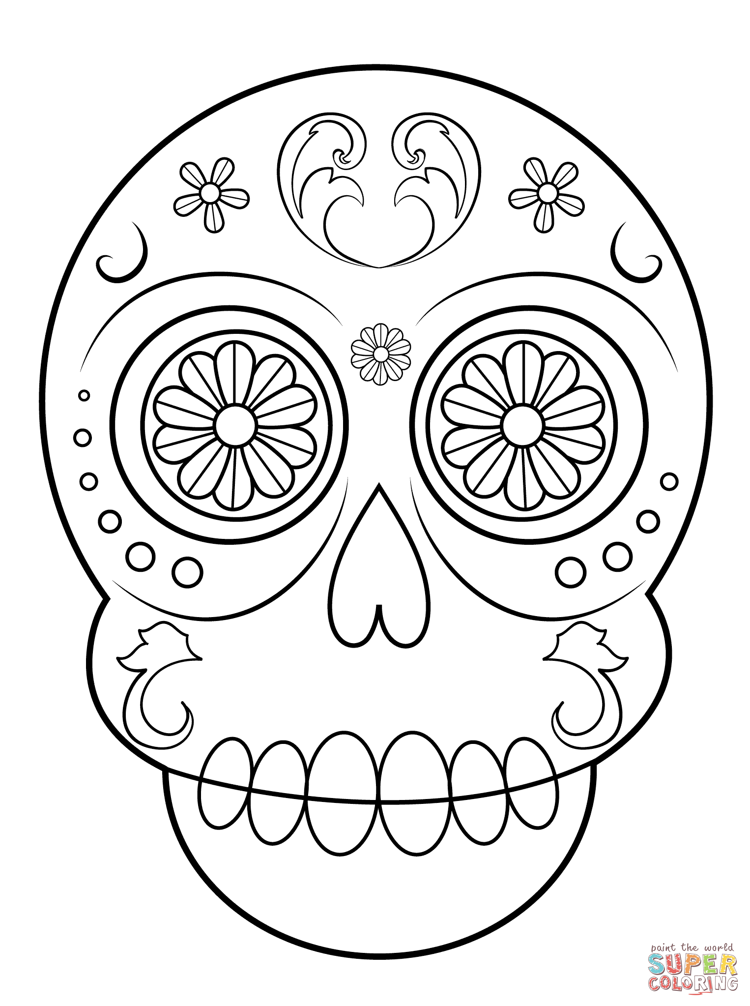 1526x2046 Sugar Skulls Coloring Pages Free Coloring Pages