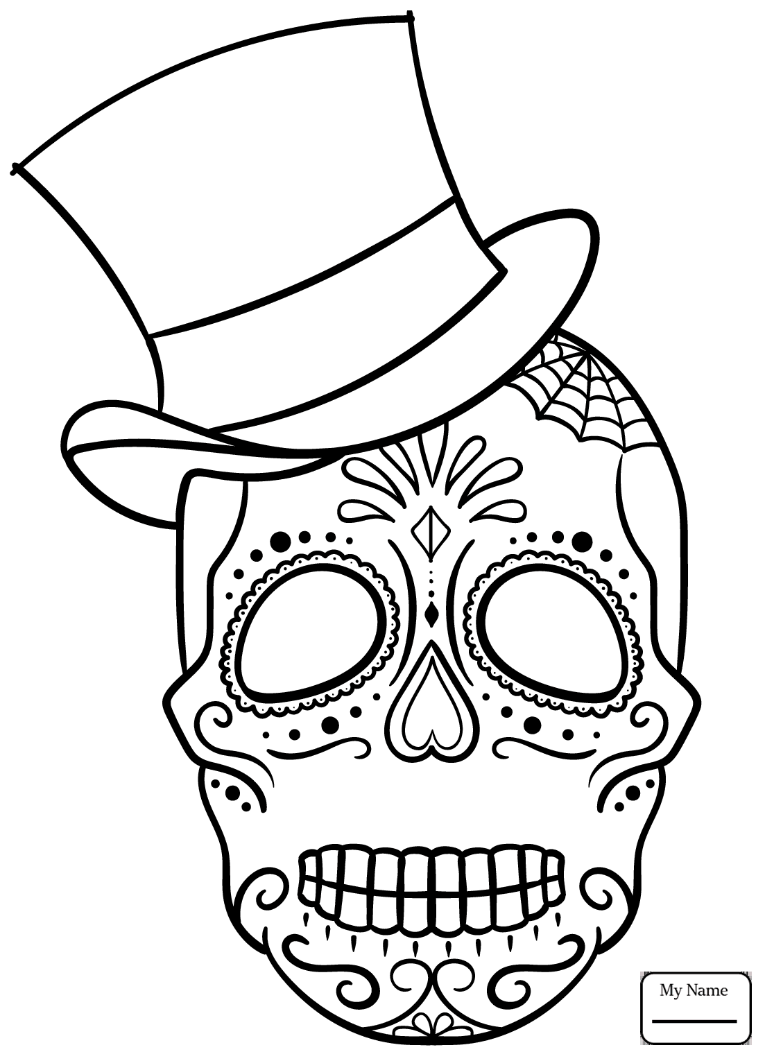 1103x1530 Coloring Pages Arts Culture Sugar Skulls Day Of The Dead Girl