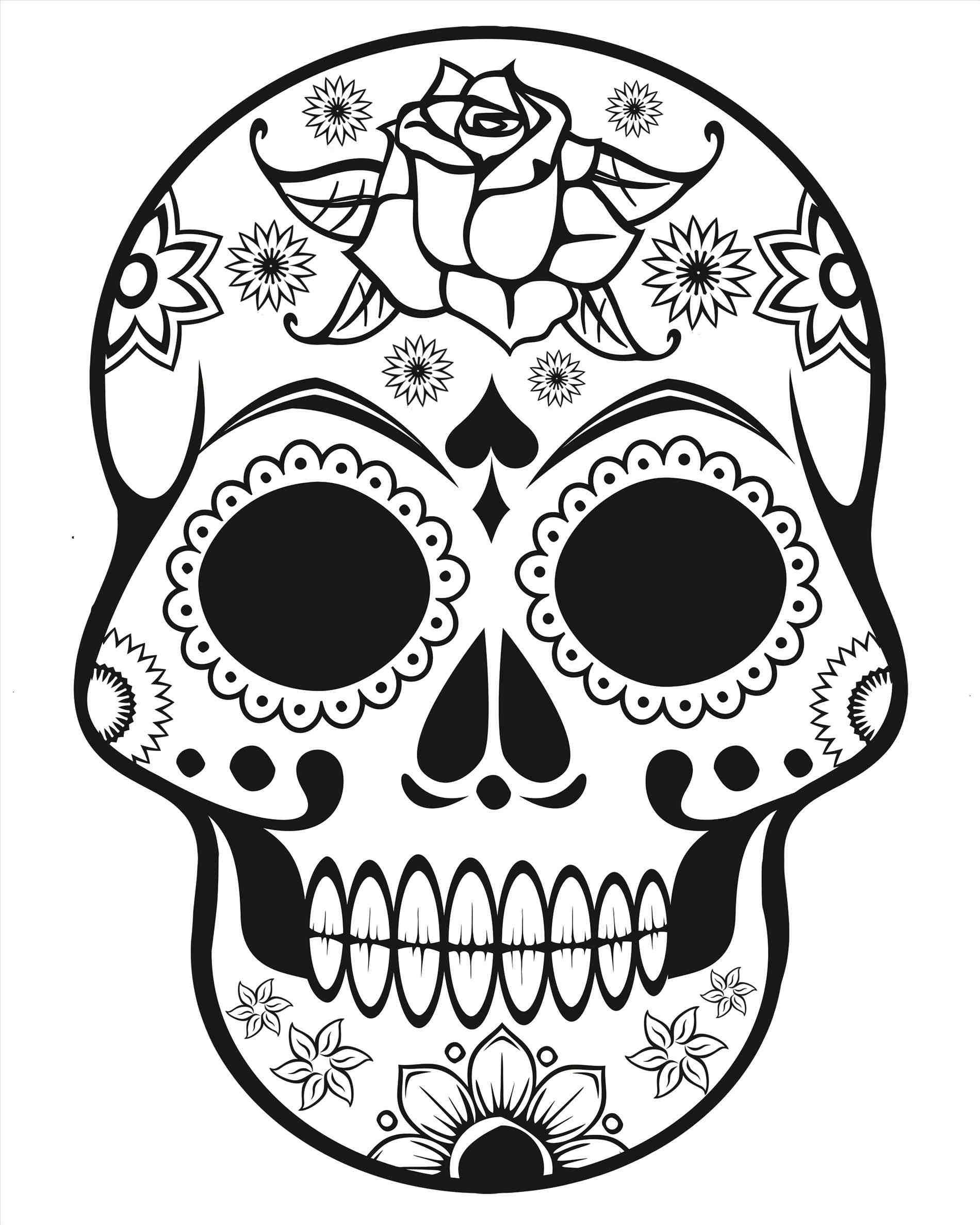 1900x2375 Simple Sugar Skull Drawing