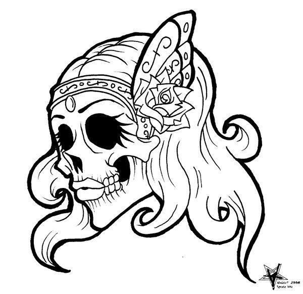 600x582 Drawn Sugar Skull Side