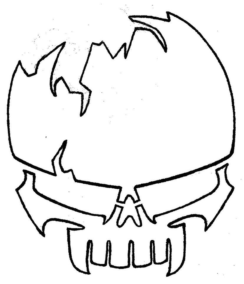 828x965 Easy Skull Cliparts