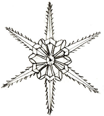 350x393 How To Draw A Snowflake
