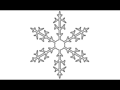 480x360 How To Draw A Snowflake In Adobe Illustrator 1