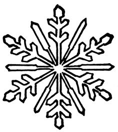 236x263 Simple Snowflake Clipart Black And White