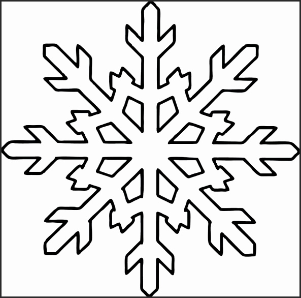 593x586 Snowflake Designs To Cut Out Mtcda Best Of Simple Snowflake