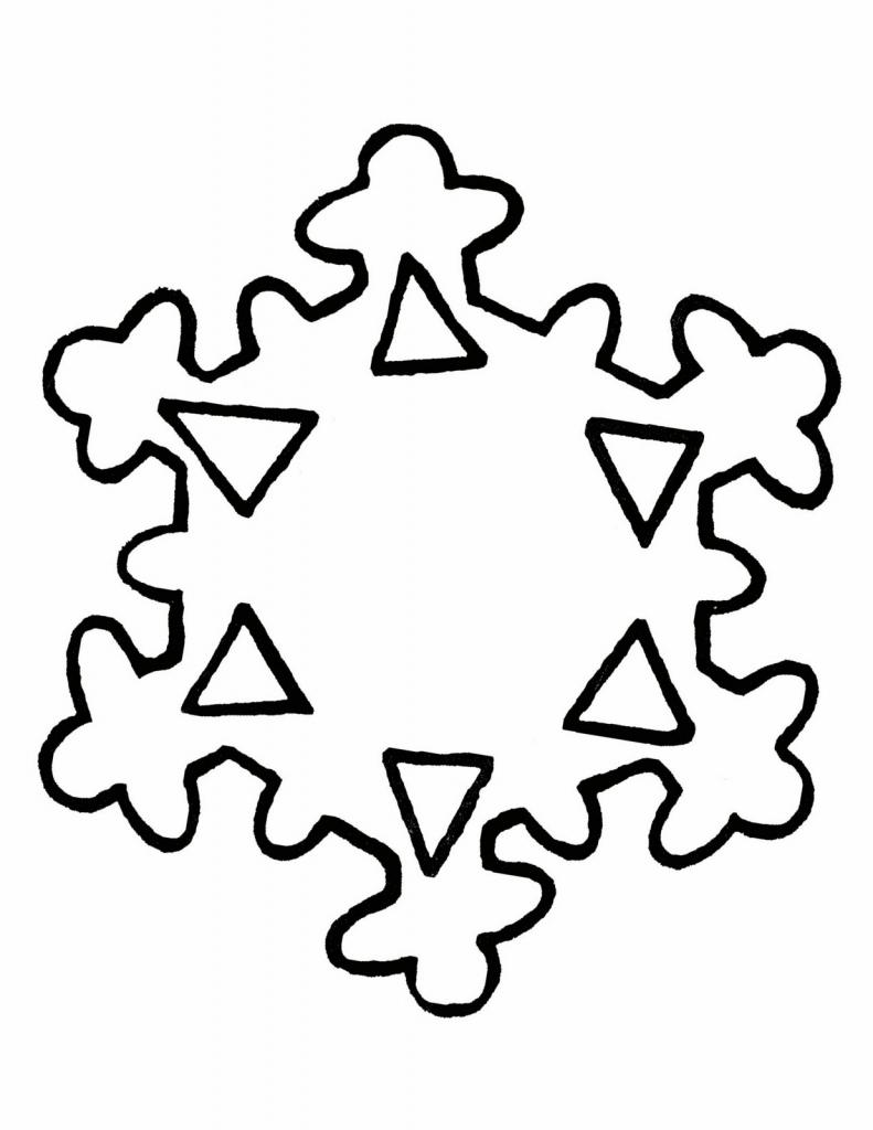 791x1024 Snowflake Drawing Easy Simple Snowflake Drawing Simple Snowflake