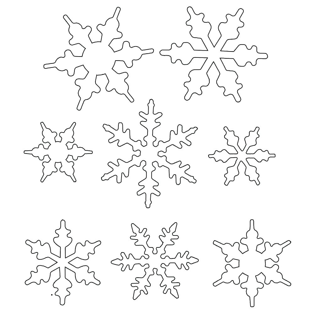 Simple Snowflake Drawing at GetDrawings | Free download