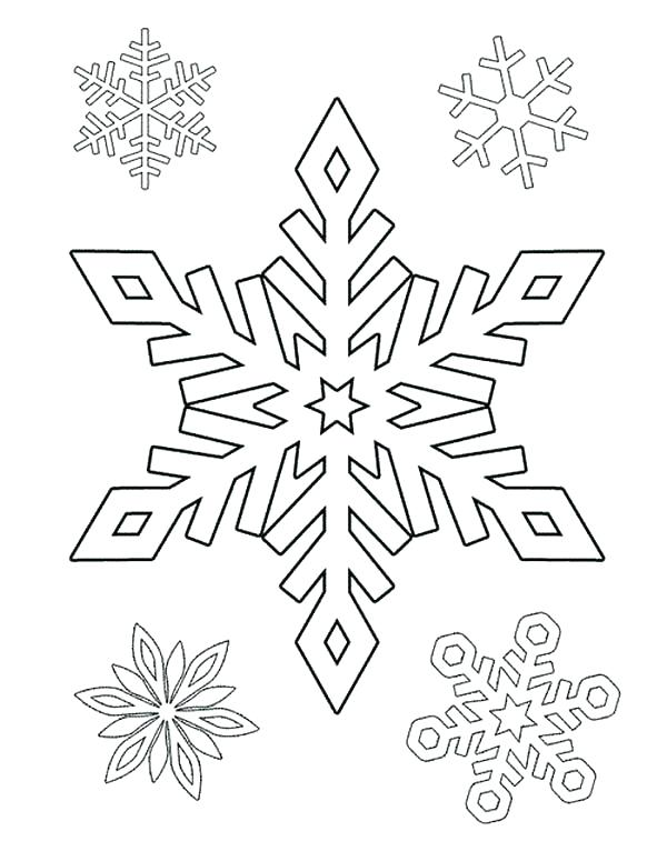 600x775 Snowflakes For Coloring Coloring Pages Of Snowflakes Drawing