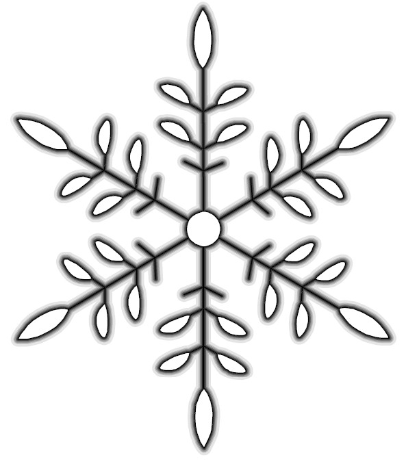 Simple Snowflake Drawing at GetDrawings.com   Free for personal use ...