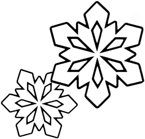 480x461 Two Little Snowflakes Coloring Page Free Printable Coloring Pages