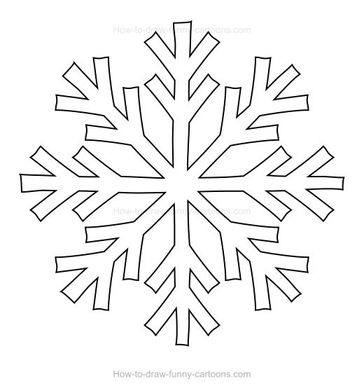 520x551 To Draw A Snowflake