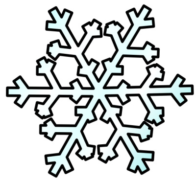 400x372 Frost Clipart Simple Snowflake