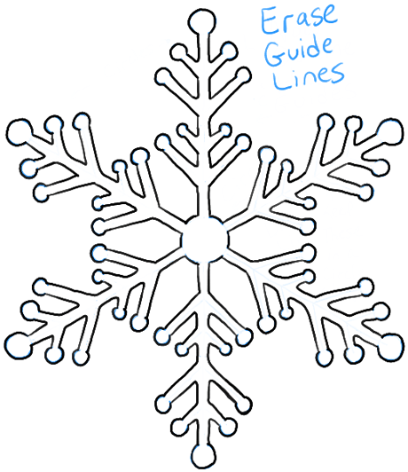 460x532 How To Draw Snowflake With Easy Drawing Lesson
