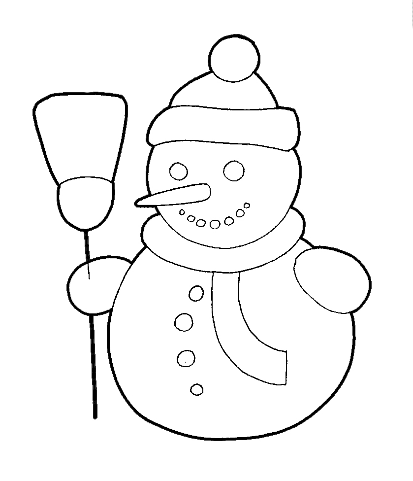 839x976 How To Draw A Snowman With Easy Step By Step Drawing Tutorial