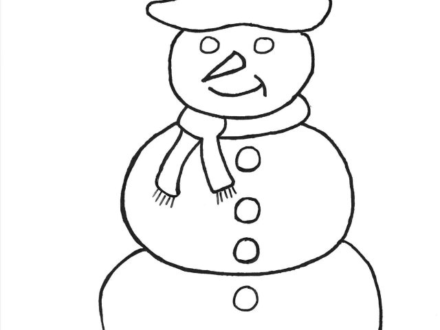 640x480 Simple Snowman Frosty The Page Simple Easy Winter