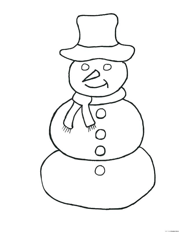 618x800 Snowman Coloring Pages Preschool And Cute Snowman Coloring Pages