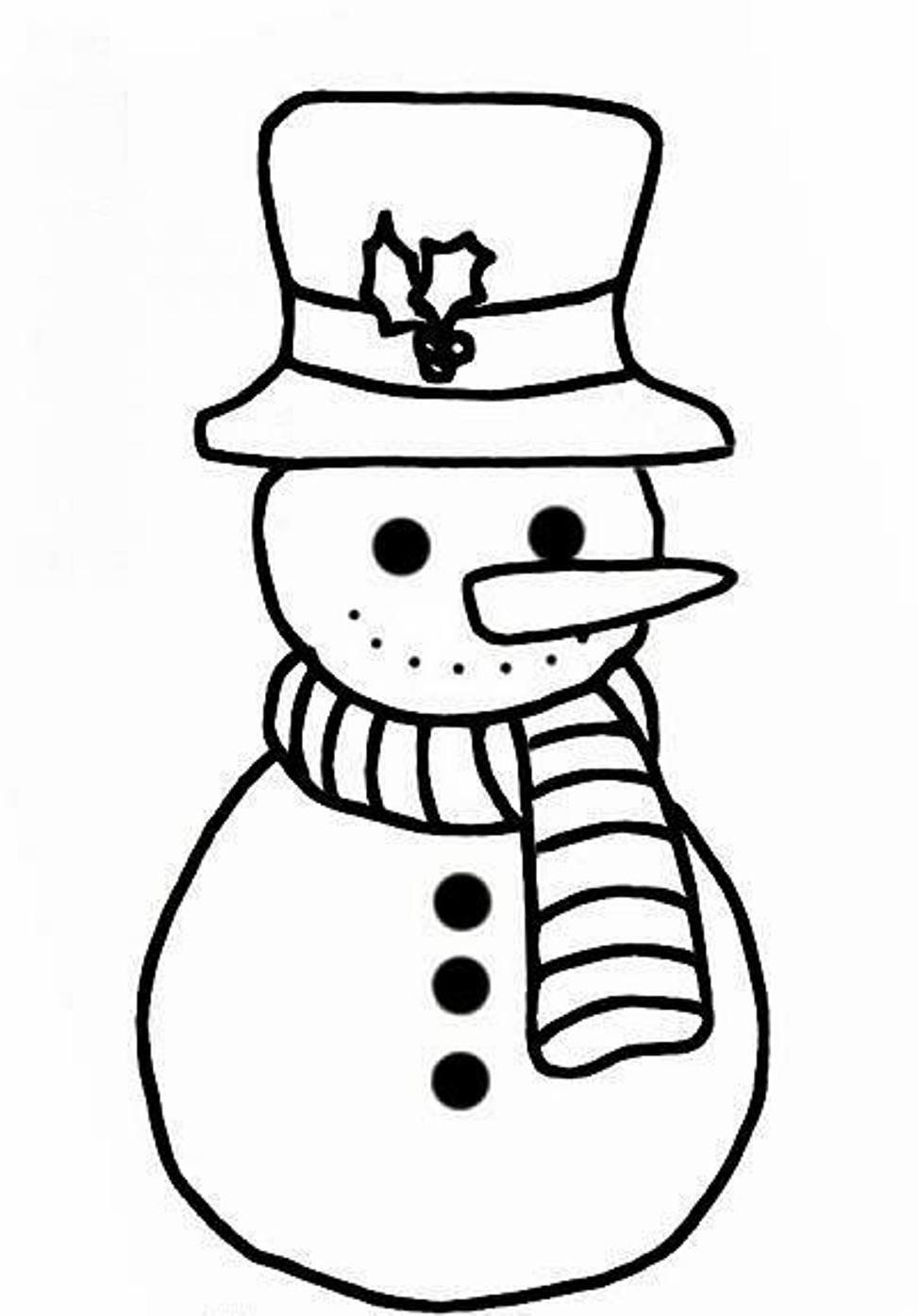 973x1395 Winter Coloring, Simple Snowman Coloring Pages For Kids Free