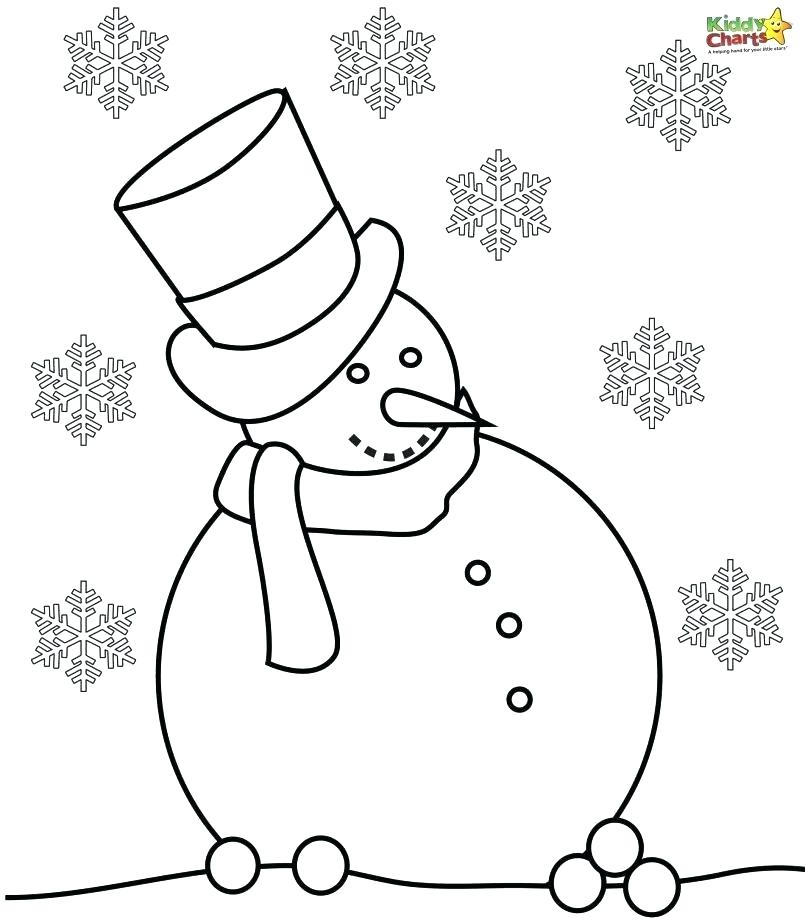 805x920 Large Snowman Coloring Page