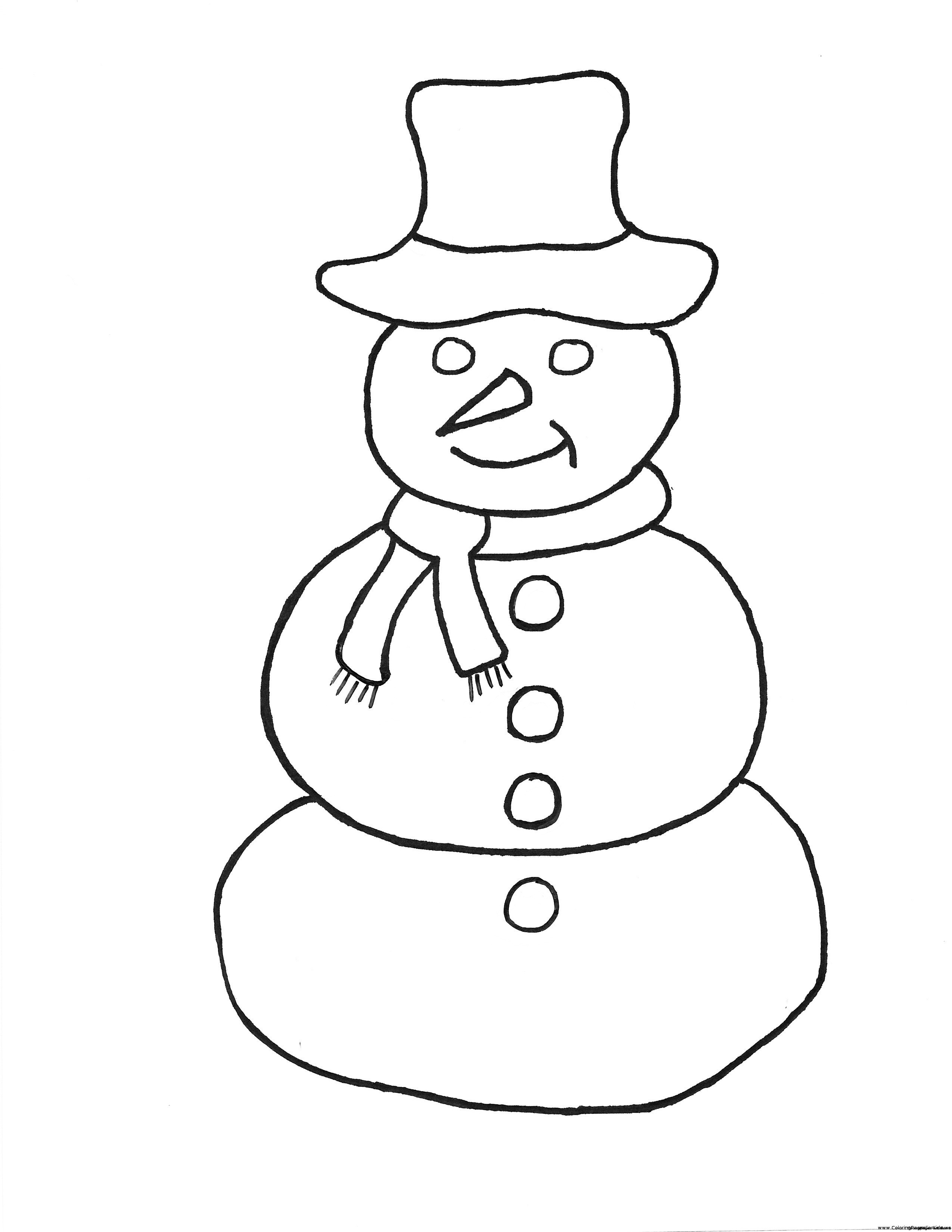 2550x3300 Simple Snowman Coloring Pages Frosty The Snowman Coloring Page