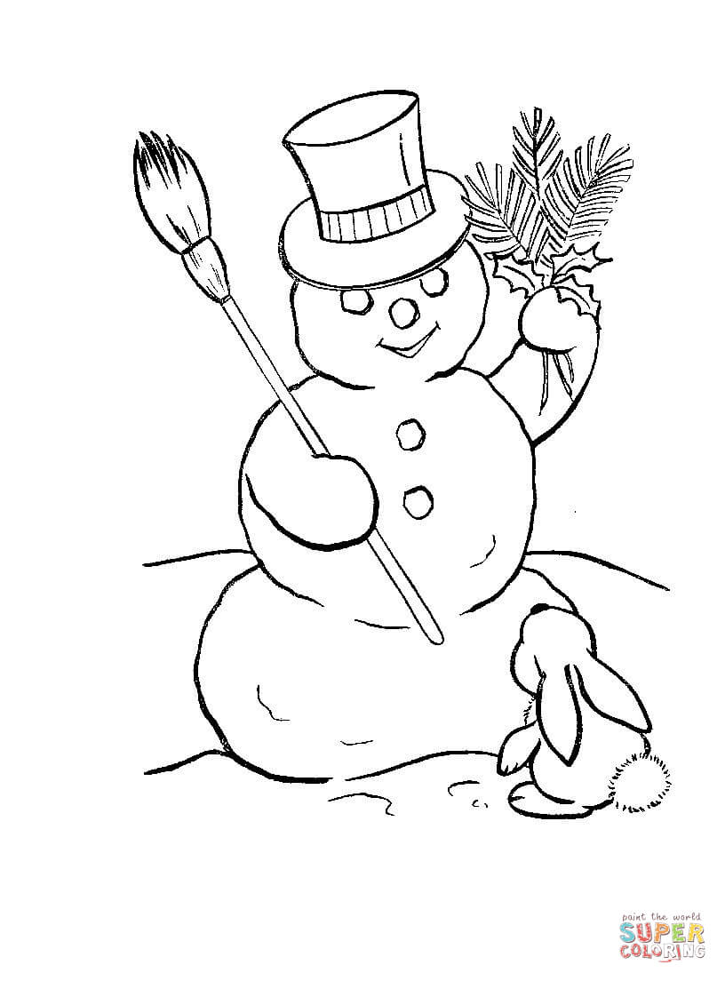 816x1104 Dwarfs Are Making Snowman Coloring Page Free Printable Coloring