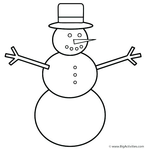 468x483 Easy Snowman Coloring Pages Also Mickey And Friends Making Snowman