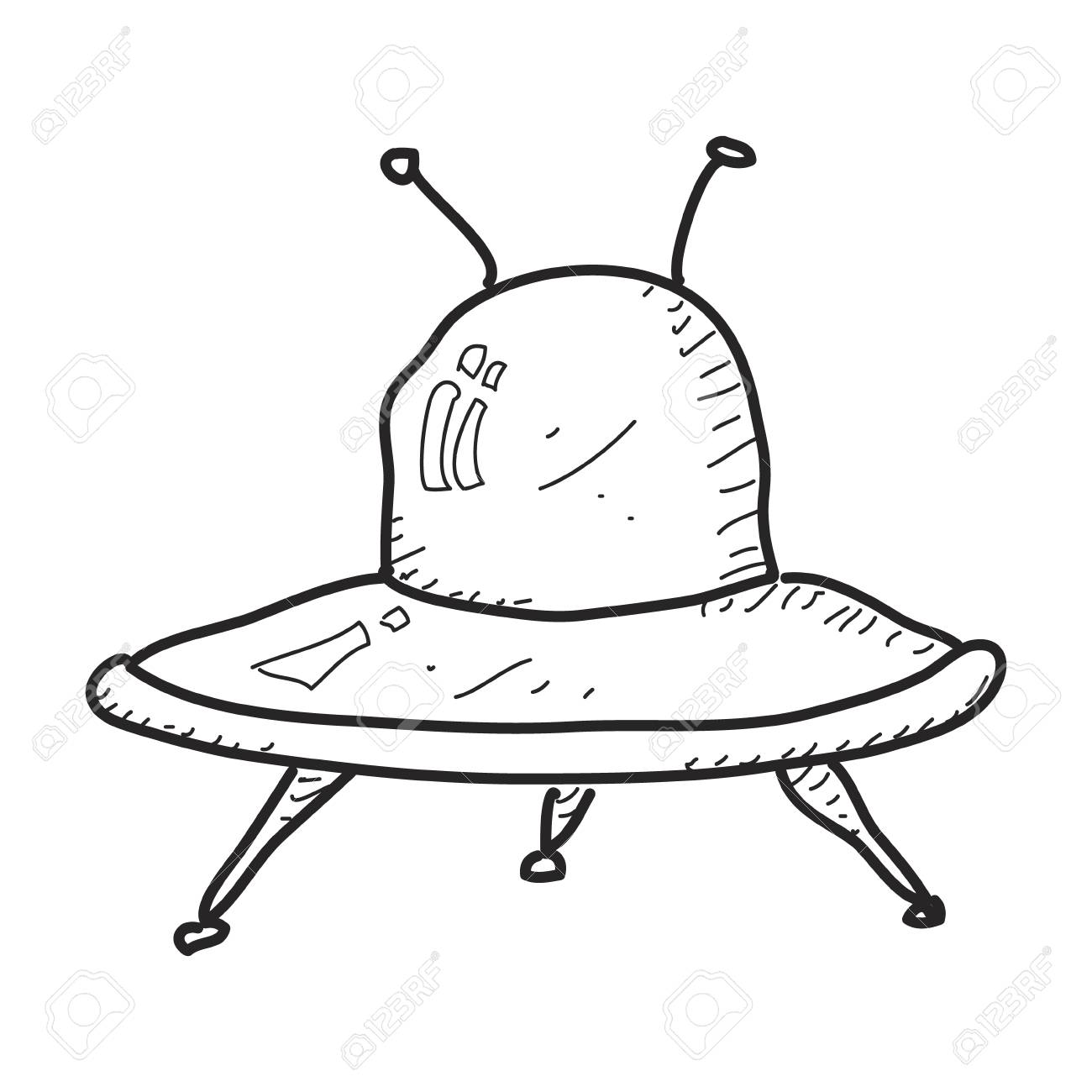 1300x1300 Simple Hand Drawn Doodle Of A Spaceship Royalty Free Cliparts