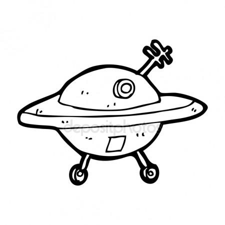 450x450 Simple Doodle Of A Spaceship Stock Vector Chrishall