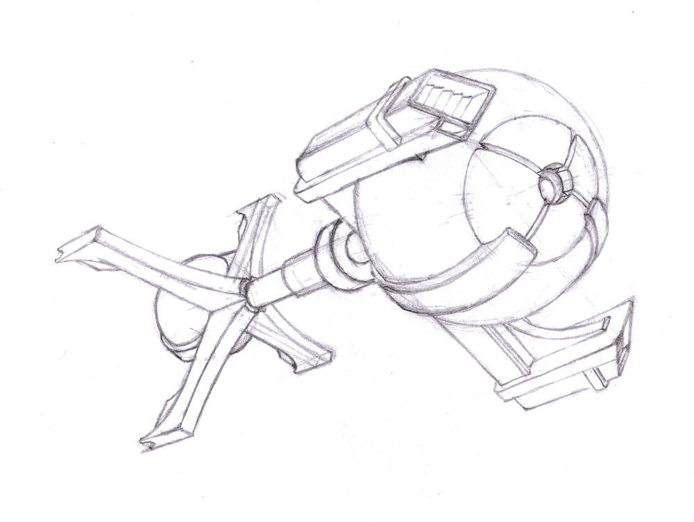simple spaceship drawing at getdrawings com free for personal use