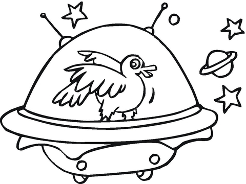 480x360 Duck In A Space Ship Coloring Page Free Printable Coloring Pages