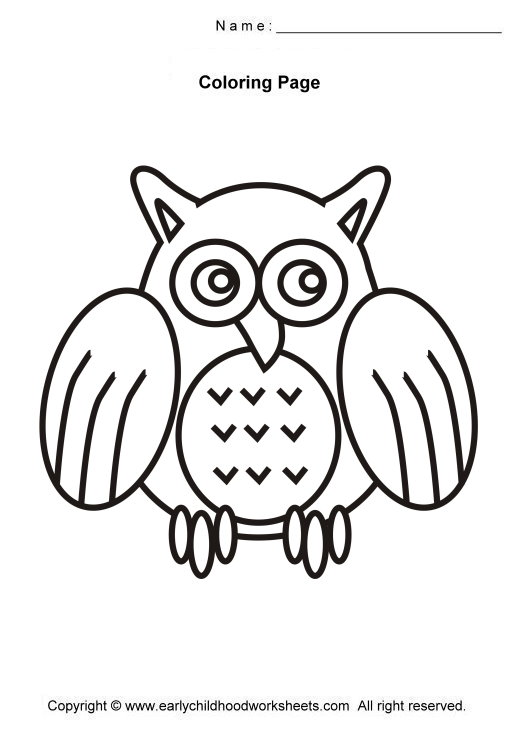 520x730 Easy Birds Coloring Pages