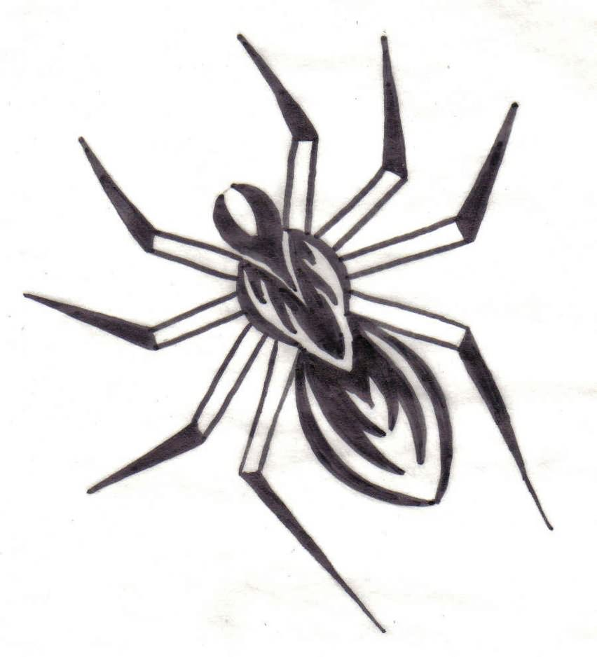 Simple Spider Drawing at GetDrawings.com | Free for personal use ...