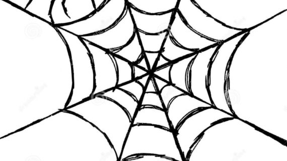 570x320 How To Draw A Spider Web Hand Draw Sketch Spider Web Stock Photos