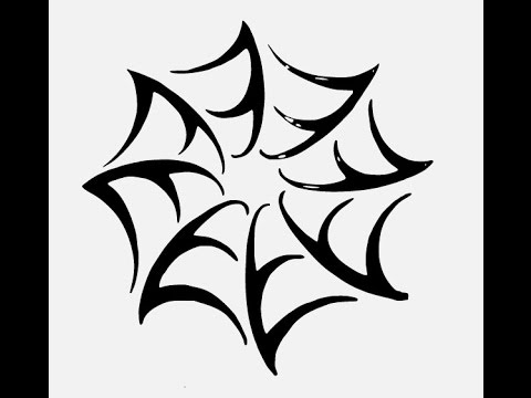 480x360 How To Draw Black Widow Spider Web Tattoo Drawing Step By Step